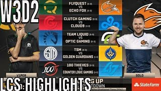 LCS Highlights ALL GAMES Week 3 Day 2 Spring 2019 League of Legends NALCS W3D2