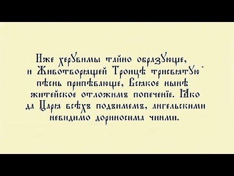 Великий вход и Херувимская песнь. Объяснение.