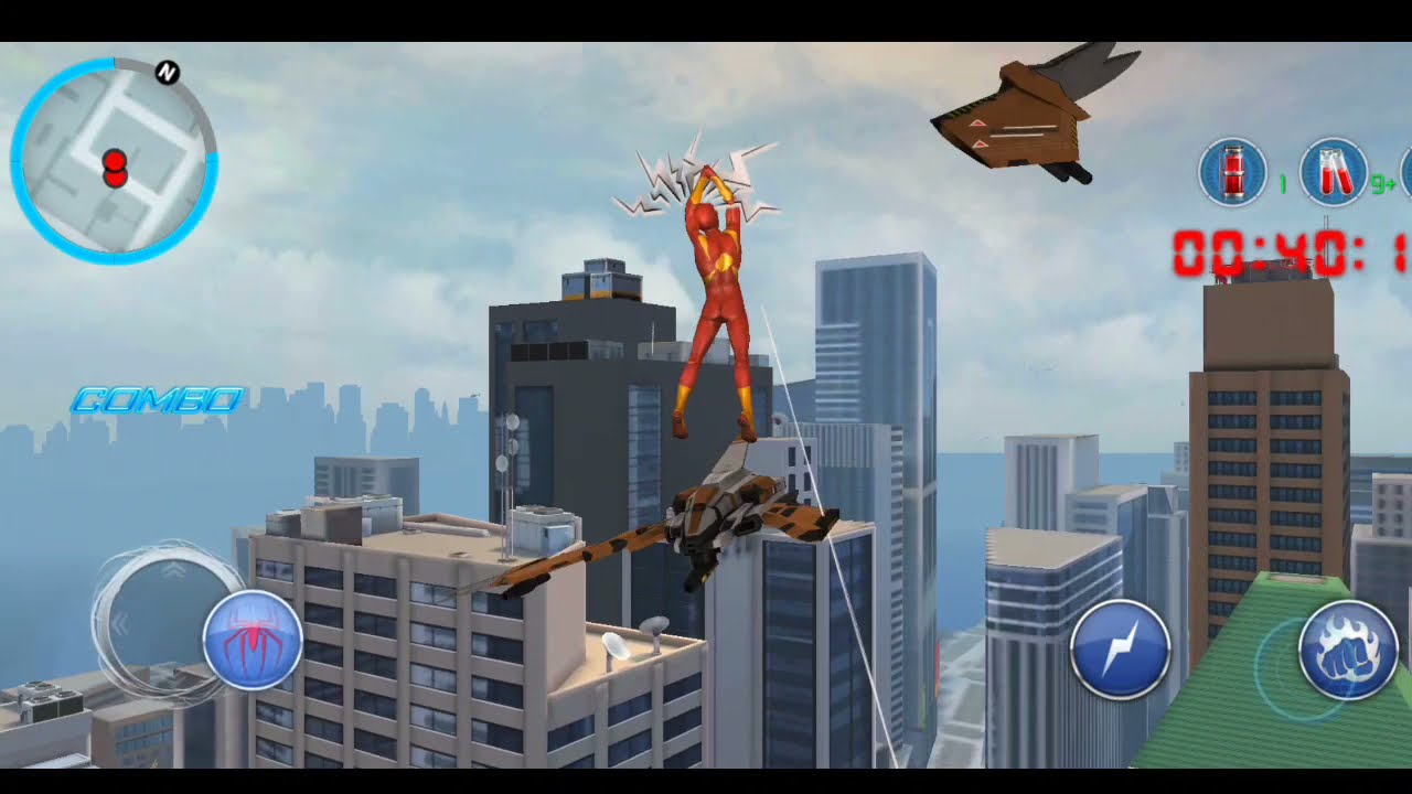 lanjut main the amazing Spider-Man 2 Mobile  