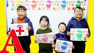 Hunter Kids Go To School Learn Colors Tips and Barbecue Tools | Classroom Funny Nursery Rhymes