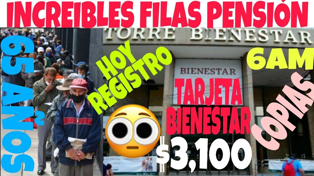 12 HORAS FORMADO PARA REGISTRO PENSIÓNUNIVERS TARJETA DEL BIENESTAR 65 AÑOS REQUISITOS HORARIO