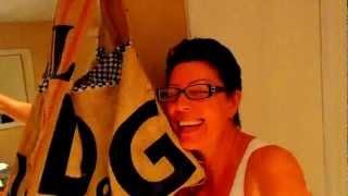 № 1099 США  DIY D&G burlap purse  Сумка из мешка креатив  Fl
