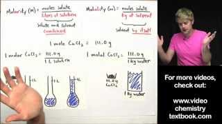 What's the Difference Between Molarity and Molality?