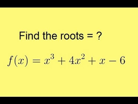 Algebra - Synthetic Division (5 Of 9) Finding The Roots