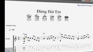 Đừng Hỏi Em Vì Sao (Mỹ Tâm) - Guitar Tab (Guitar Solo) - Tự Học Đàn Guitar Solo