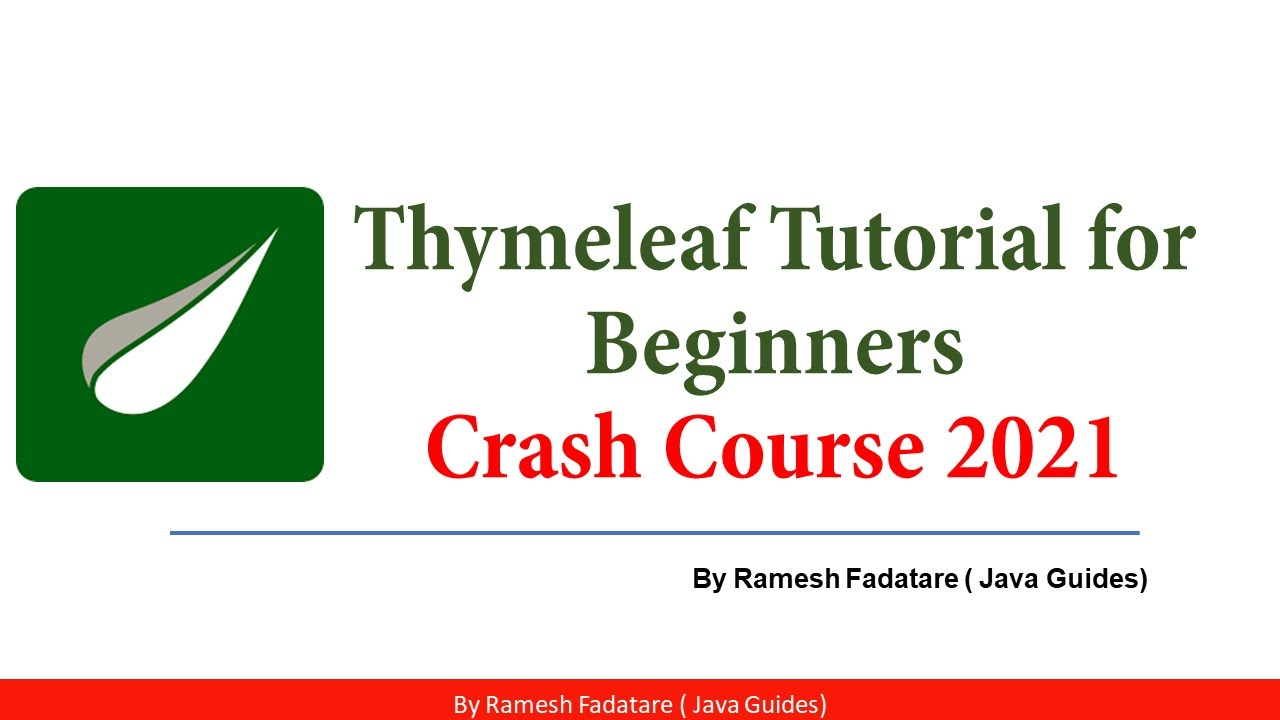 Java Thymeleaf Template Tutorial for Beginners   Crash Course 2021