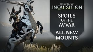 Dragon Age: Inquisition - Spoils of the Avvar DLC - All New Mounts