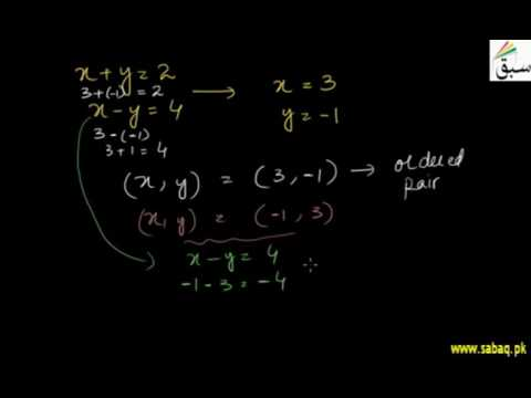 Introduction to Ordered Pairs