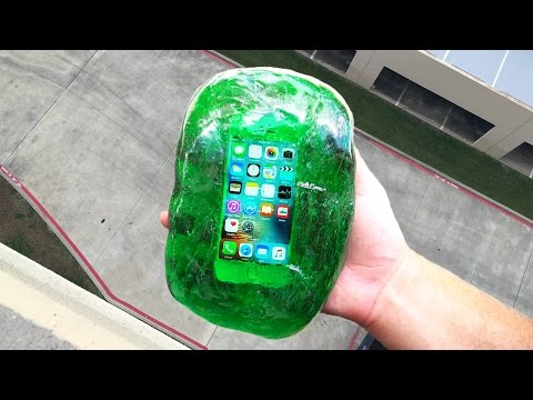 Can Flubber Protect an iPhone SE from 100 FT Drop Test?!