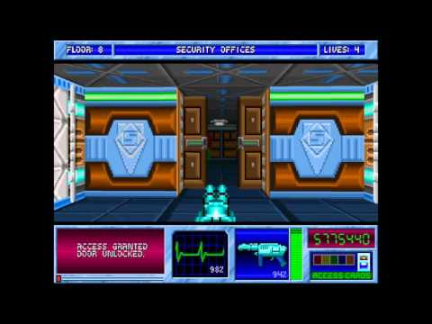 Blake Stone Aliens of Gold HD - E1M8 Security Offices - Veteran - All Secrets