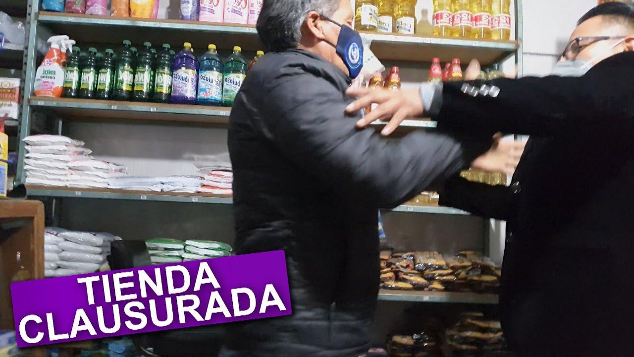 DENUNCIO AL SEÑOR DE LA TIENDA Y CIERRAN SU TIENDA