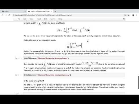 QuantLib notebooks: a glitch in forward rates - YouTube