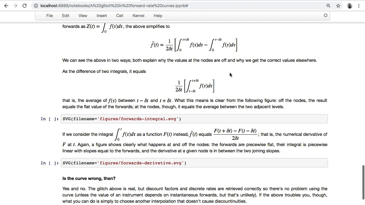 QuantLib notebooks: a glitch in forward rates