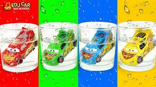 Learning Color Disney Pixar Cars Lightning McQueen Mack Truck ICE Cup Play for kids car toys