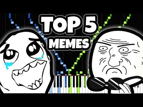 TOP 5 MOST BEAUTIFUL MEME SONGS ON PIANO (99.99% will cry)