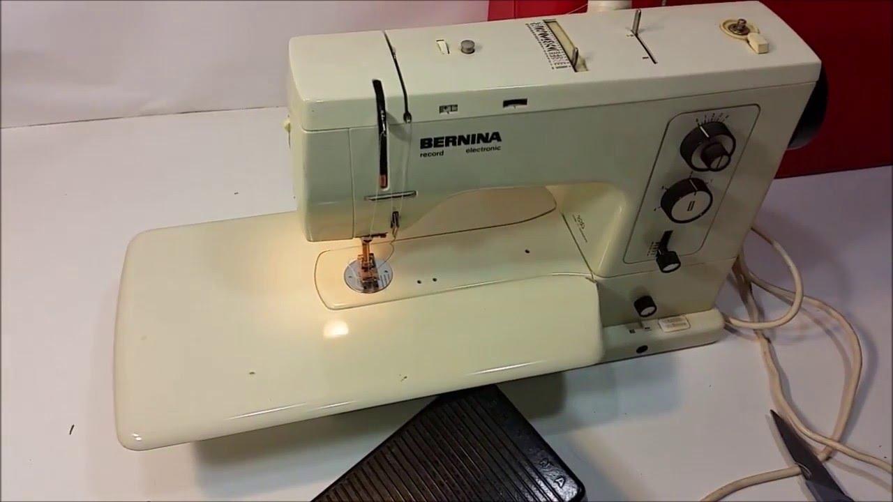 testing a bernina 830 record electronic sewing machine