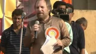 Part 1/2 - Richard Benkin with Tapan Ghosh at Hindu Samhati Mega Rally in Kolkata