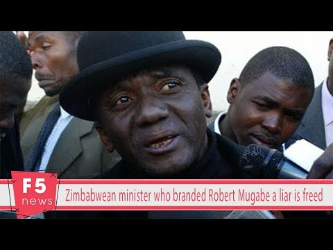 Zimbabwean minister who branded Robert Mugabe a liar is freed