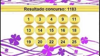 sorteio resultado lotofacil 1183 Palpite 1184