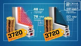 Акция! Окна КБЕ-76мм по цене обычных 60мм