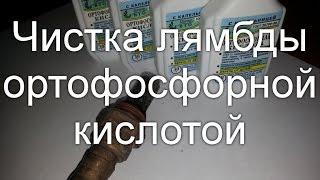 Как почистить лямбду ортофосфорной кислотой на примере skoda