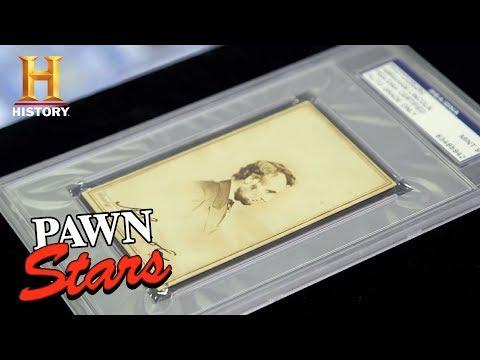 Pawn Stars: Abraham Lincoln Signed Parlor Card (Season 15)   History