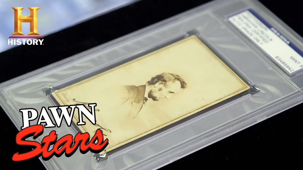 Pawn Stars: Abraham Lincoln Signed Parlor Card (Season 15) | History ...