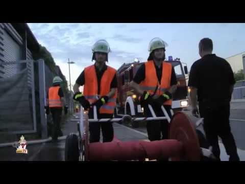 Löschübung Freiwillige Feuerwehr Neckarsulm am 07.08.2015