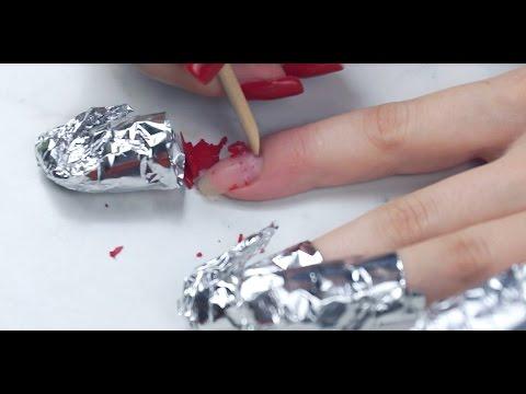 Чем удалить с ногтей шеллак в домашних условиях