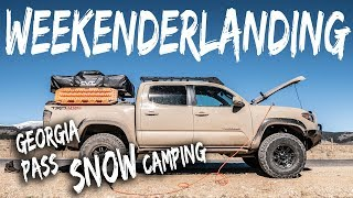 Download lagu WEEKENDERLANDER EP 3 Georgia Pass Tacoma Overland in the SNOW MP3
