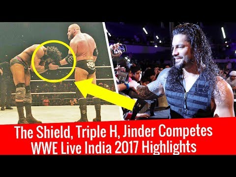 WWE Live India 9 Dec 2017 Highlights Results | The Shield Vs Samoa & Bar | Triple H Vs Jinder Mahal