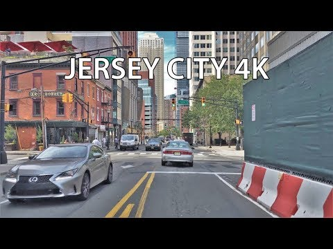 Driving Downtown - Jersey City USA 4K