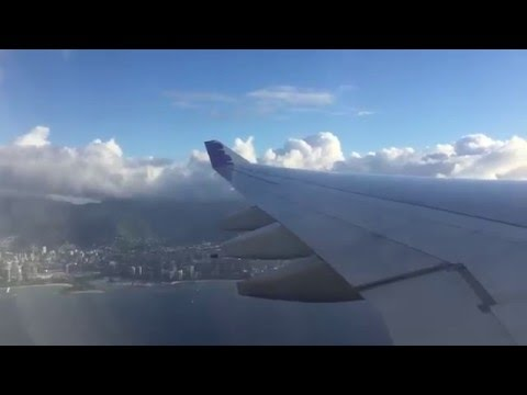 Hawaiian Airbus A330  take off from Honolulu International Airport to LAX
