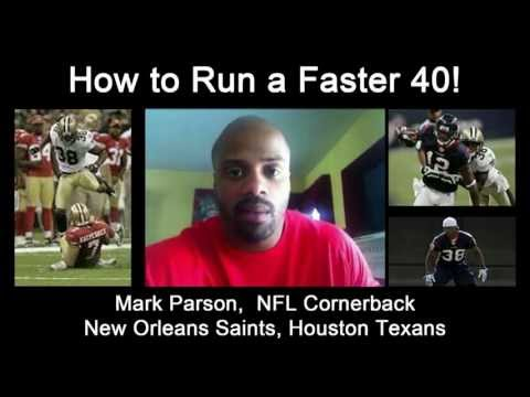 How To Run A Faster 40 Yard Dash. Increase Your Running Speed. Training Exercise.