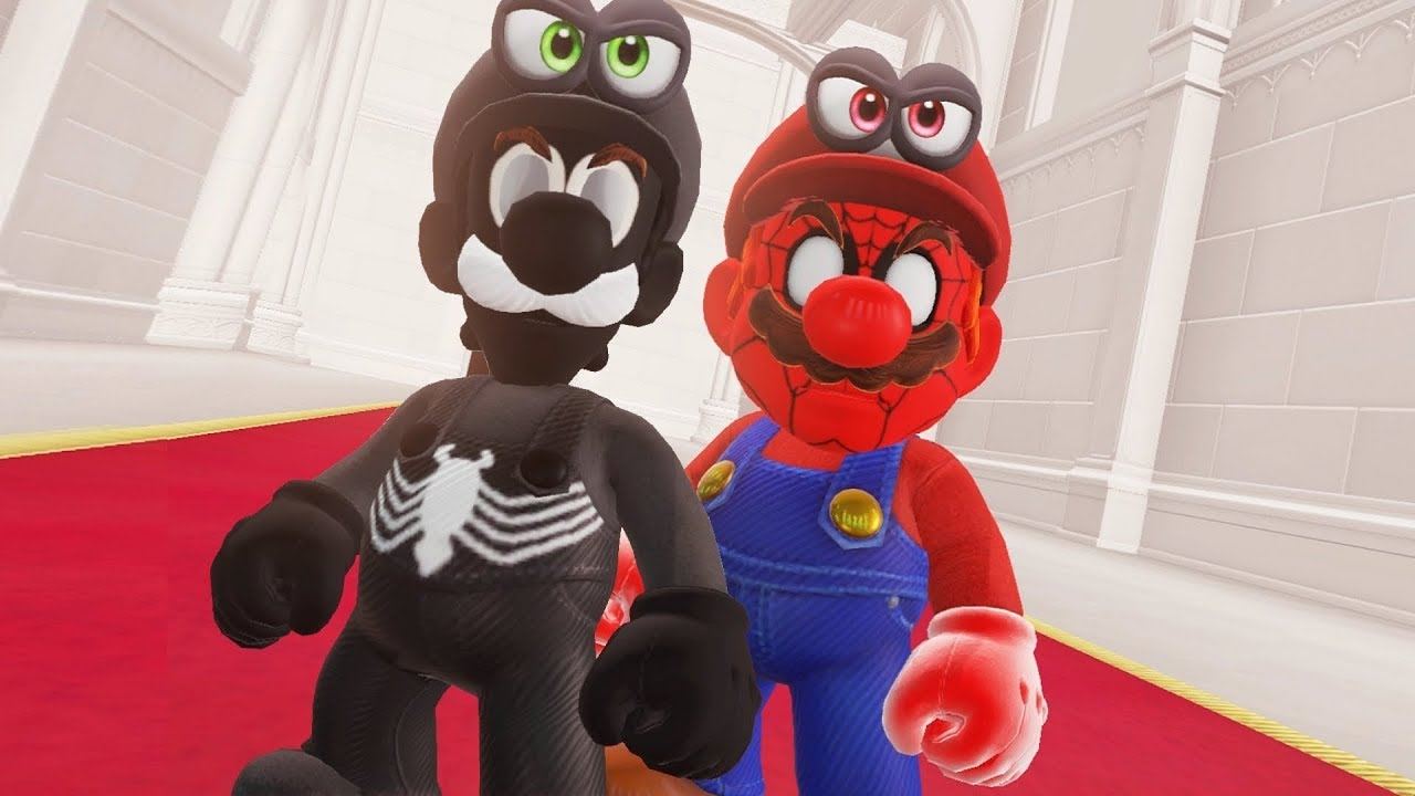Super Mario Odyssey – Spider Mario & Venom Luigi Final Boss + Darker Side