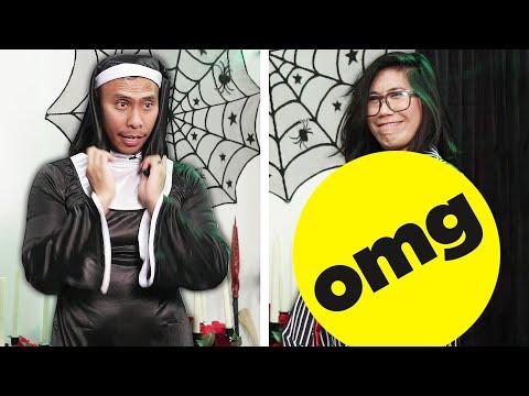 Couple Swaps Men And Women's Halloween Costumes