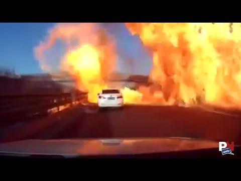 An Entire Highway Explodes After Gas Spill