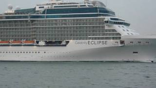 Celebrity Eclipse sailing past Calshot Spit 24/04/2010
