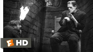 Frankenstein (4/8) Movie CLIP - The Monster Meets Fire (1931) HD