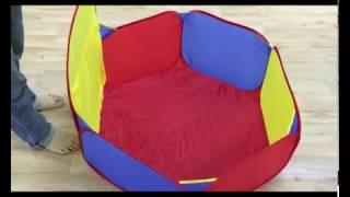 Anak Kolam Mandi Bola Keranjang Tenda Kolam Mandi Bola Pop Up Ball Pool with Basket Ring
