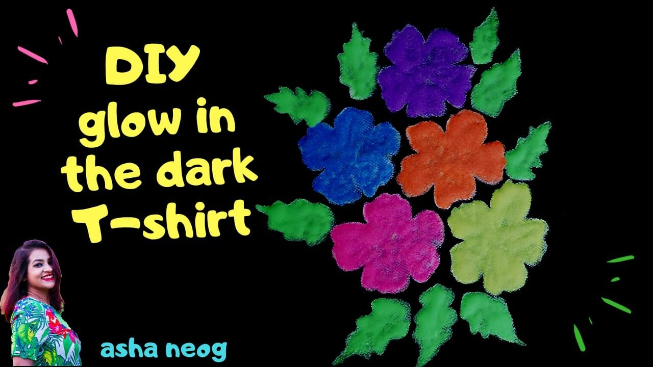 Glow in dark paint | Glow in dark painting on fabric | Fabric Painting | Glow in dark theme