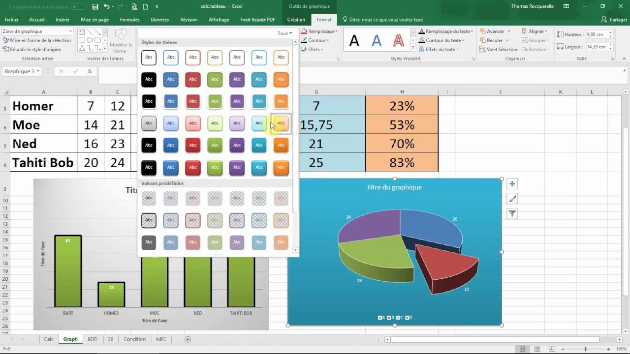 Les graphiques avec excel 2016 formation microsoft office - Comment faire un diagramme sur open office ...