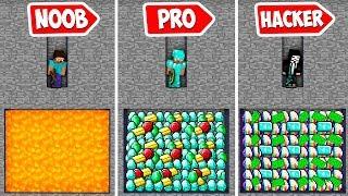 Minecraft NOOB vs PRO vs HACKER vs GOD : THEY FOUND SECRET CHEST IN UNDERGROUND MINE | Challenge!
