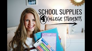 SCHOOL SUPPLIES YOU NEED FOR COLLEGE!