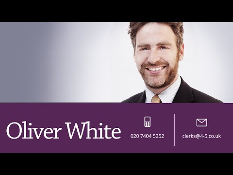 Oliver White Barrister - Banking Litigation and Civil Fraud Specialist Barrister