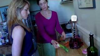 Eating With Abs Cooking Show | Sautéed Radicchio, Carrots, & Leeks