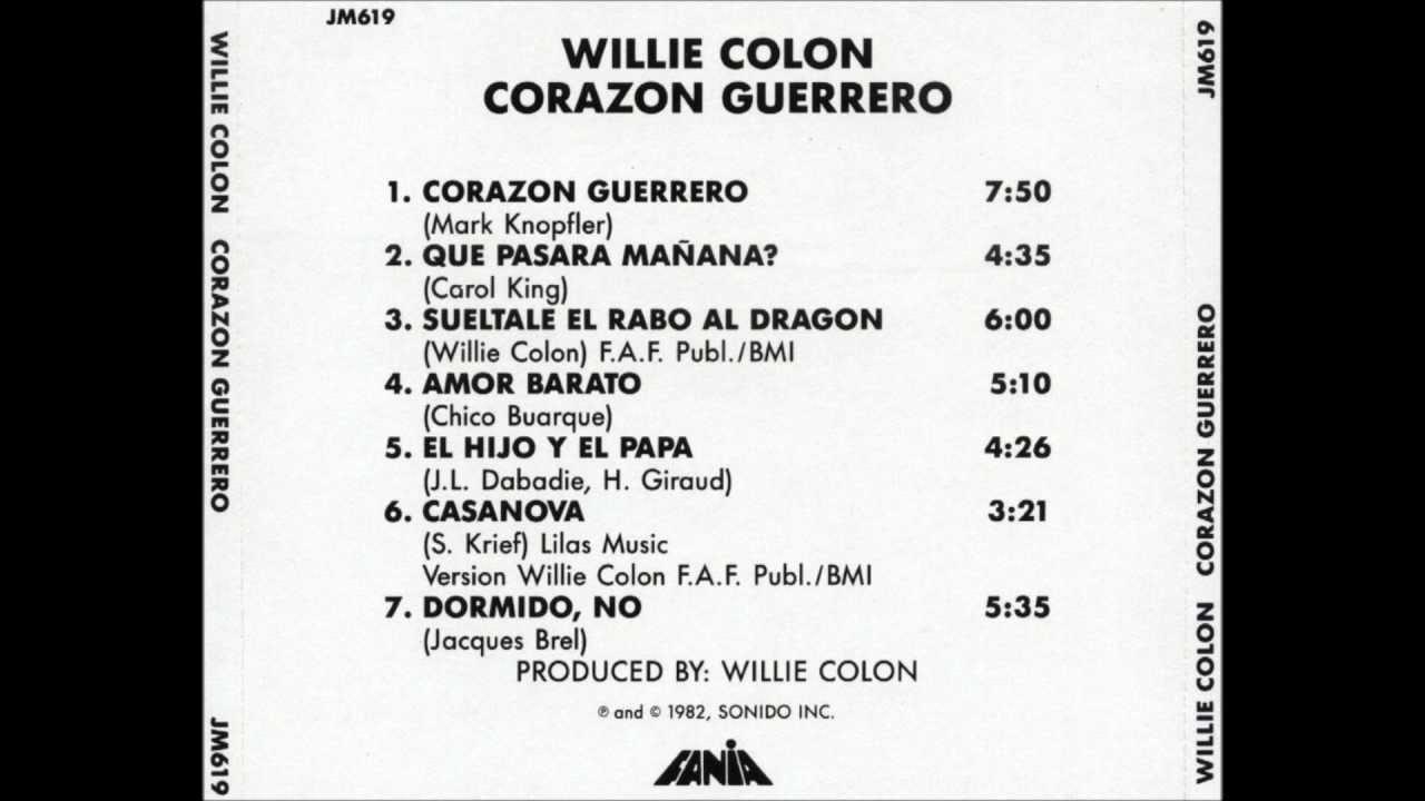 lyric willie colon:
