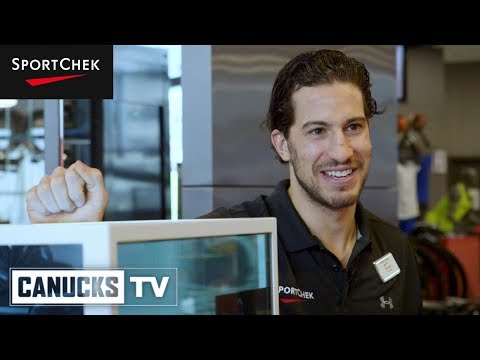 Michael Del Zotto Puts In a Shift at Sport Chek