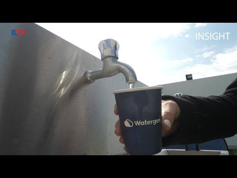 Israeli company makes WATER out of thin air!
