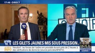 Motion de Censure: Nicolas Dupont-Aignan réagit sur BFMTV